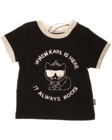 Тениска KARL LAGERFELD KIDS